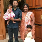 Priya and Nadesalingam with their two Australian-born children.