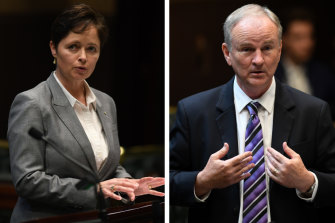 Potential defectors: Liberal MPs Tanya Davies and Kevin Conolly.