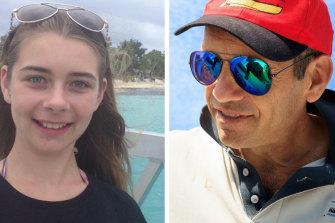 Emma  and Jeremy Cooper were rescued from their capsized catamaran.