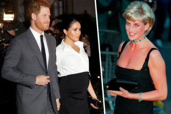 Prince Harry said the media's treatment of his wife Meghan reminds him of his mother Princess Diana.