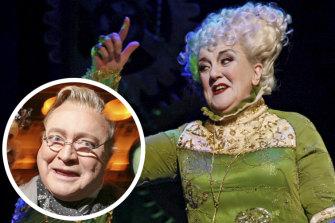Bert Newton (inset) and Maggie Kirkpatrick in Wicked.