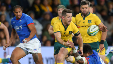 Out of sorts: Bernard Foley may struggle to break into the match-day 23 for the Wallabies.