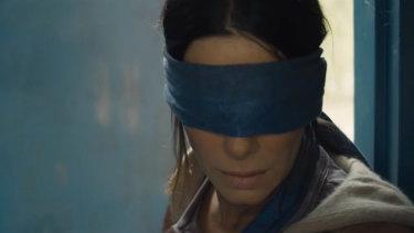 Sandra Bullock in the new film Bird Box.