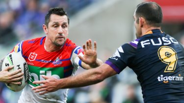 Fending off an old foe: Mitchell Pearce has plenty to prove if he is picked for the Blues.