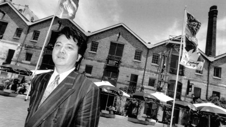 Alfred Lai, pictured at Campbell's Stores in 1992, operated the Imperial Peking at The Rocks' landmark.