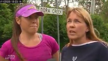Mother and daughter praised for helping elderly man who fell into creek