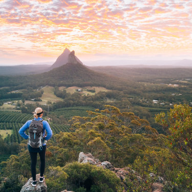 Mount Ngungun in Queensland's Glass House Mountains National Park.