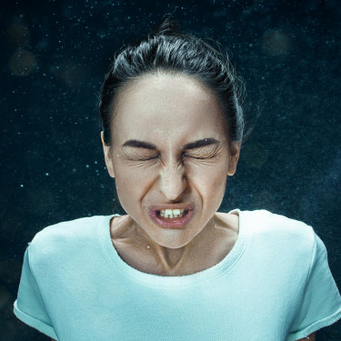A sneeze can release thousands of droplets of virus.