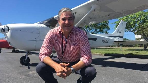 The flying pollie: Robbie Katter gets his wings
