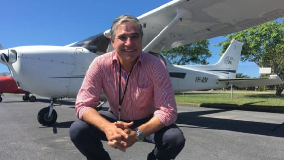 The flying pollie: Robbie Katter gets his wings