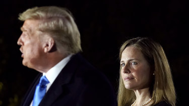 Amy Coney Barrett joined the other eight Supreme Court judges isn rejecting the Texas bid to overturn votes in four other states.