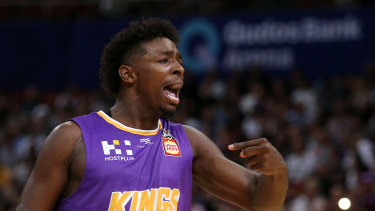 Jae'Sean Tate celebrates a basket against Melbourne United.