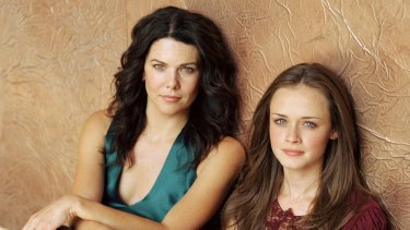 Lauren Graham and Alexis Bledel as mother and daughter Lorelai and Rory in Gilmore Girls, which has just marked the 20th anniversary of its first US broadcast.