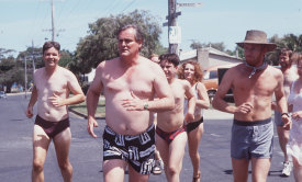 Kevin Harrington, John Howard and David Wenham in a scene from the original SeaChange.