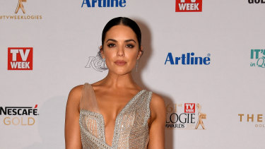 Olympia Valance arrives at the 2019 Logie Awards at The Star Casino on the Gold Coast in June.
