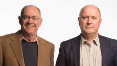 3AW's John Burns, left, has announced he intends to step-down from his top-rating breakfast show with Ross Stevenson in 2020.