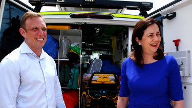 Deputy Premier Steven Miles (pictured with Premier Annastacia Palaszczuk) says health authorities are monitoring the NSW virus cases closely.