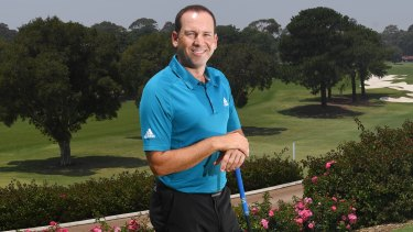 Box office appeal: Sergio Garcia at the Australian Golf Club ahead of the Australian Open.