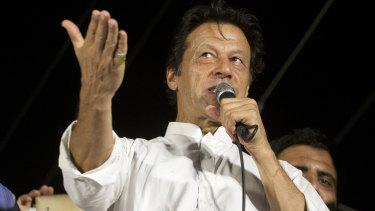 Pakistan's opposition politician Imran Khan.