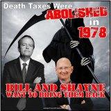 A death tax meme that went viral on Facebook.