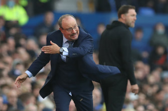 Rafa Benitez took charge of Everton for the first time.