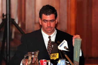 Hansie Cronje pictured at trial in 2000.