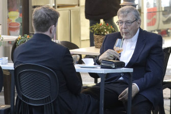 Cardinal George Pell in Rome last month.