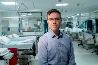 Doctor Stephen Warrillow, Director of ICU in a ward set up for the expected increase in coronavirus patients.