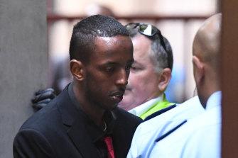 Melbourne terror plotter Ali Khalif Shire Ali arriving at court last year.