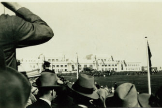 Opening day at Parliament House, Canberra, 1927.