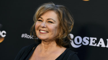 Roseanne Barr at the Los Angeles premiere of her rebooted show.