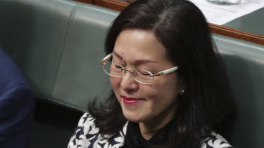 Gladys Liu in Federal Parliament.