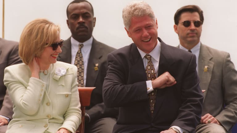 Bill and Hillary Clinton visit Sydney in 1996.