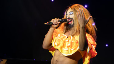 Nefertiti LaNegra performs at the opening gala.