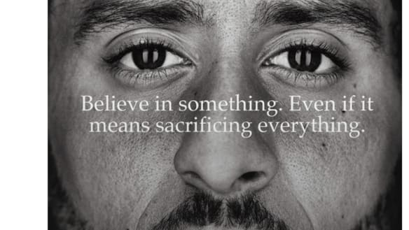Nike shares fall as Colin Kaepernick's 'Just Do It' ad divides America