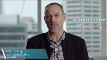 Icare executive Rob Craig in the Guidewire promotional video.