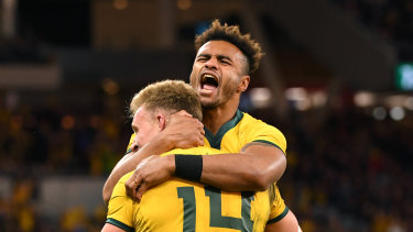The Australians had plenty to celebrate at Optus Stadium.