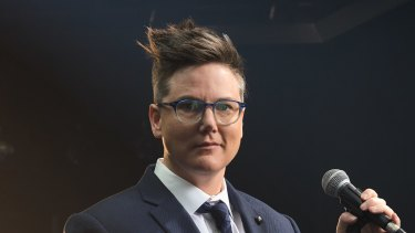 Comedian Hannah Gadsby will be performing at the Palais Theatre later this month.
