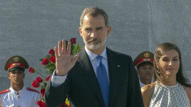Spain's King Felipe VI in Havana, Cuba last year.