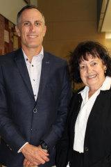 Sunshine Coast University law professor Jay Sanderson with new graduate, Pauline Lorenzen.