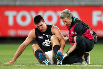 Blues veteran Matthew Kreuzer will miss up to four months with a foot injury.