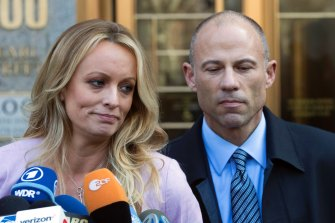 Michael Avenatti with his client Stormy Daniels in 2018.
