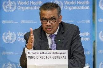 WHO Director-General Tedros Adhanom Ghebreyesus.