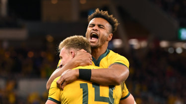 The Australians had plenty to celebrate at Optus Stadium.