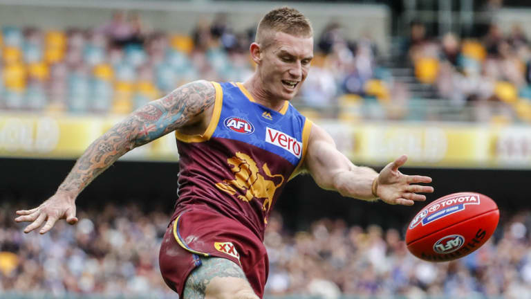 Dayne Beams in action for the Lions.