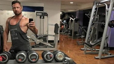 Katter's Australian Party MP Nick Dametto posing for a photo in the gym.