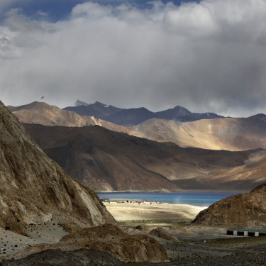 Pangong Lake, the site of the latest flare-up between Indian and Chinese troops.