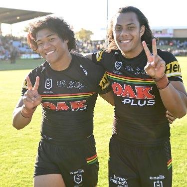 Brian To'o and Jarome Luai.