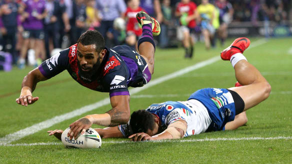 Resurgent Melbourne Storm score half-century against NZ Warriors