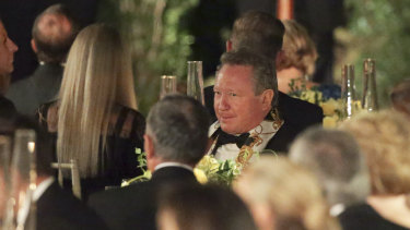 "Businessman Andrew ""Twiggy"" Forrest during the state dinner."